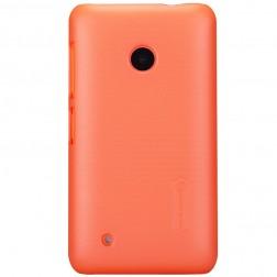 """""""Nillkin"""" Frosted Shield dėklas - oranžinis + apsauginė ekrano plėvelė (Lumia 530)"""