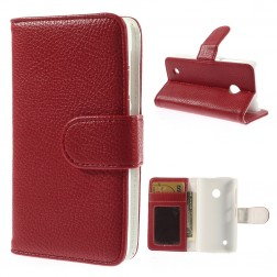 """""""Litchi"""" atverčiamas dėklas - raudonas (Lumia 530)"""