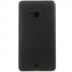 Kieto silikono (TPU) dėklas - juodas (Lumia 535)