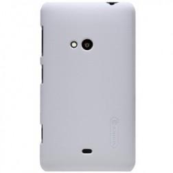 """""""Nillkin"""" Frosted Shield dėklas - baltas + apsauginė ekrano plėvelė (Lumia 625)"""