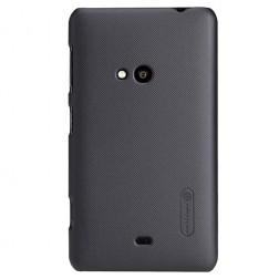 """""""Nillkin"""" Frosted Shield dėklas - juodas + apsauginė ekrano plėvelė (Lumia 625)"""