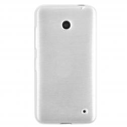 Kieto silikono (TPU) dėklas - baltas (Lumia 630 / 635)