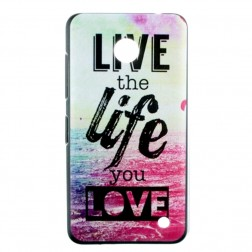 """""""Life"""" plastikinis dėklas - spalvotas (Lumia 630 / 635)"""
