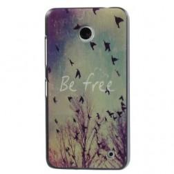 """""""Be Free"""" plastikinis dėklas - spalvotas (Lumia 630 / 635)"""