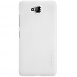 """""""Nillkin"""" Frosted Shield dėklas - baltas + apsauginė ekrano plėvelė (Lumia 650)"""