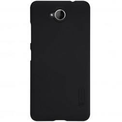 """""""Nillkin"""" Frosted Shield dėklas - juodas + apsauginė ekrano plėvelė (Lumia 650)"""