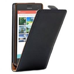 Klasikinis atverčiamas dėklas - juodas (Lumia 730 / 735)