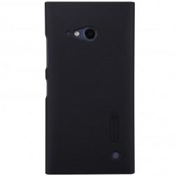 """""""Nillkin"""" Frosted Shield dėklas - juodas + apsauginė ekrano plėvelė (Lumia 730 / 735)"""