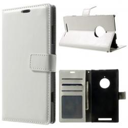Atverčiamas odinis dėklas - baltas (Lumia 830)