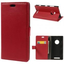 Atverčiamas odinis dėklas - raudonas (Lumia 830)