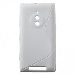 Kieto silikono dėklas - baltas (Lumia 830)