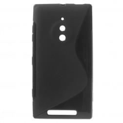 Kieto silikono dėklas - juodas (Lumia 830)