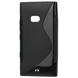 Silikoninis dėklas - juodas, matinis  (Lumia 900)