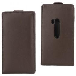 Atverčiamas dėklas - rudas (Lumia 920)