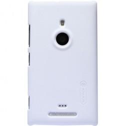 """""""Nillkin"""" Frosted Shield dėklas - baltas + apsauginė ekrano plėvelė (Lumia 925)"""