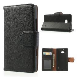 """""""Litchi"""" atverčiamas dėklas - juodas (Lumia 930)"""