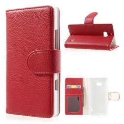 """""""Litchi"""" atverčiamas dėklas - raudonas (Lumia 930)"""