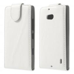 Klasikinis atverčiamas dėklas - baltas (Lumia 930)