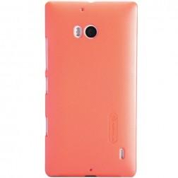 """""""Nillkin"""" Frosted Shield dėklas - oranžinis + apsauginė ekrano plėvelė (Lumia 930)"""
