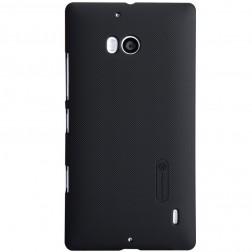 """""""Nillkin"""" Frosted Shield dėklas - juodas + apsauginė ekrano plėvelė (Lumia 930)"""
