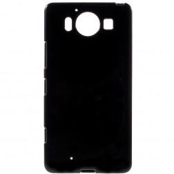 Kieto silikono (TPU) dėklas - juodas (Lumia 950)