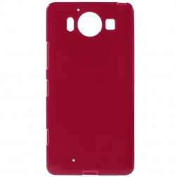 Kieto silikono (TPU) dėklas - raudonas (Lumia 950)