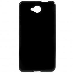 Kieto silikono (TPU) dėklas - juodas (Lumia 650)