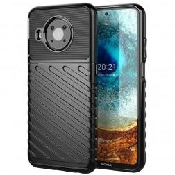 """""""Twill"""" kieto silikono (TPU) dėklas - juodas (Nokia X20 / X10)"""