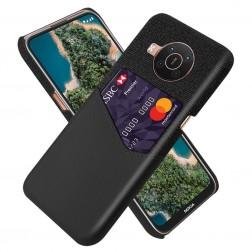 """""""KSQ"""" Shell dėklas su kišenėle - juodas (Nokia X20 / X10)"""