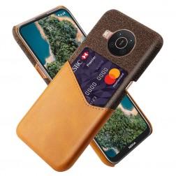 """""""KSQ"""" Shell dėklas su kišenėle - rudas (Nokia X20 / X10)"""