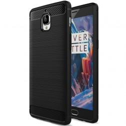 """""""Carbon"""" kieto silikono (TPU) dėklas - juodas (OnePlus 3)"""