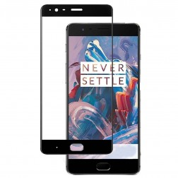 """""""Calans"""" Tempered Glass apsauginis ekrano stiklas 0.26 mm - juodas (OnePlus 3)"""
