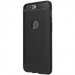 """""""Carbon"""" kieto silikono (TPU) dėklas - juodas (OnePlus 5)"""