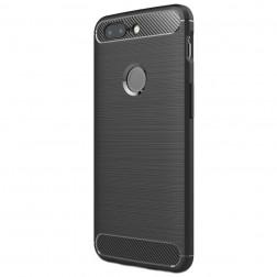 """""""Carbon"""" kieto silikono (TPU) dėklas - juodas (OnePlus 5T)"""