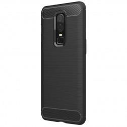 """""""Carbon"""" kieto silikono (TPU) dėklas - juodas (OnePlus 6)"""