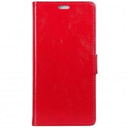 Atverčiamas dėklas, knygutė - raudonas (OnePlus 6)