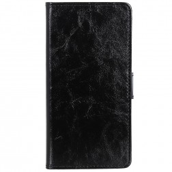 Atverčiamas dėklas, knygutė - juodas (OnePlus 7)