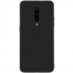 """""""Nillkin"""" Synthetic Fiber kieto silikono (TPU) dėklas - juodas (OnePlus 7 Pro)"""