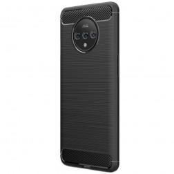 """""""Carbon"""" kieto silikono (TPU) dėklas - juodas (OnePlus 7T)"""