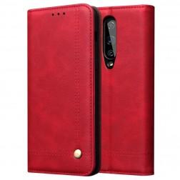 """""""Deluxe"""" atverčiamas dėklas - raudonas (OnePlus 8)"""