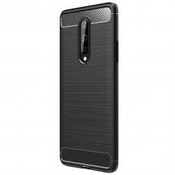 """""""Carbon"""" kieto silikono (TPU) dėklas - juodas (OnePlus 8)"""