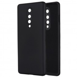 """""""Shell"""" kieto silikono (TPU) dėklas - juodas (OnePlus 8)"""