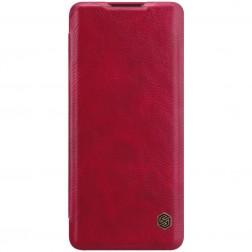"""""""Nillkin"""" Qin atverčiamas dėklas - raudonas (OnePlus 8)"""