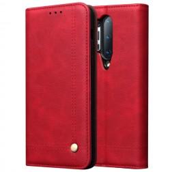 """""""Deluxe"""" atverčiamas dėklas - raudonas (OnePlus 8 Pro)"""