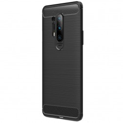 """""""Carbon"""" kieto silikono (TPU) dėklas - juodas (OnePlus 8 Pro)"""