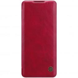 """""""Nillkin"""" Qin atverčiamas dėklas - raudonas (OnePlus 8 Pro)"""