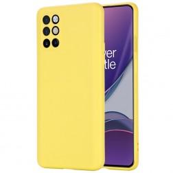 """""""Shell"""" kieto silikono (TPU) dėklas - geltonas (OnePlus 8T)"""