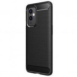"""""""Carbon"""" kieto silikono (TPU) dėklas - juodas (OnePlus 9)"""
