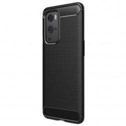 """""""Carbon"""" kieto silikono (TPU) dėklas - juodas (OnePlus 9 Pro)"""