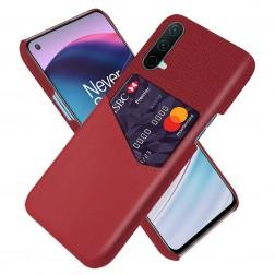"""""""KSQ"""" Shell dėklas su kišenėle - raudonas (OnePlus Nord CE)"""
